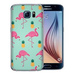 Skin Samsung Galaxy S6 - Sticker Mobster Autoadeziv Pentru Spate - Flamingo