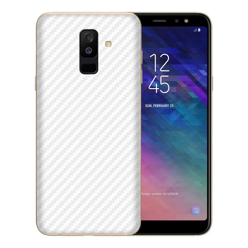 Skin Samsung Galaxy A6 Plus 2018 - Sticker Mobster Autoadeziv Pentru Spate - Carbon White
