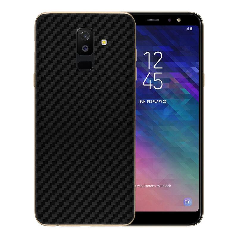 Skin Samsung Galaxy A6 Plus 2018 - Sticker Mobster Autoadeziv Pentru Spate - Carbon Black