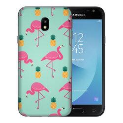 Skin Samsung Galaxy J5 2017 J530, Galaxy J5 Pro 2017 - Sticker Mobster Autoadeziv Pentru Spate - Flamingo