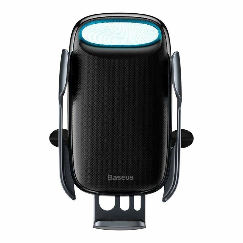 Suport Auto Baseus Milky Way Electric Gravity Induction Cu Incarcare Wireless + Cablu Micro-USB 15W - Negru