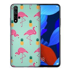 Skin Huawei Nova 5T - Sticker Mobster Autoadeziv Pentru Spate - Flamingo