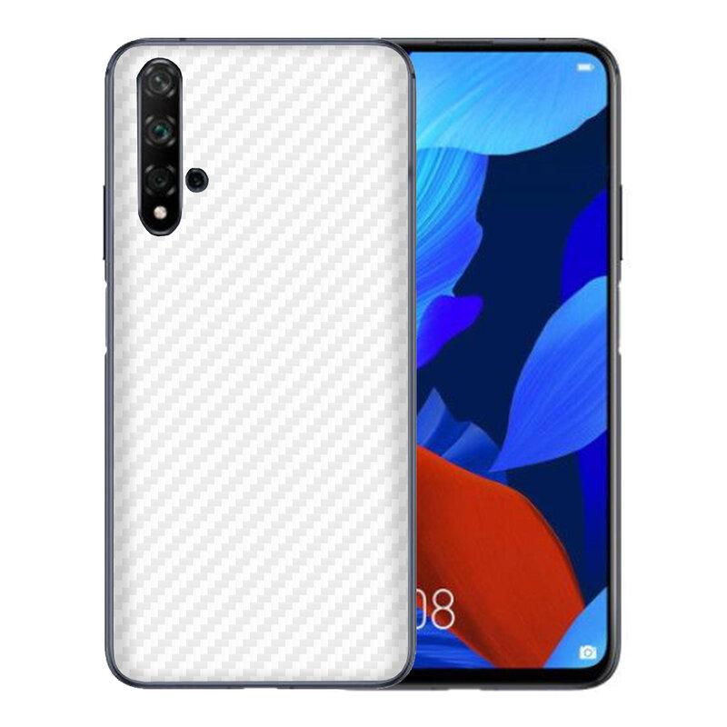 Skin Huawei Nova 5T - Sticker Mobster Autoadeziv Pentru Spate - Carbon White