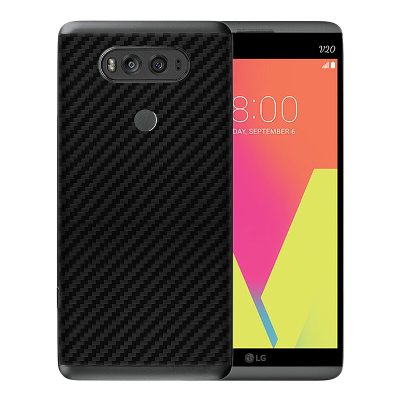 Skin LG V20 - Sticker Mobster Autoadeziv Pentru Spate - Carbon Black