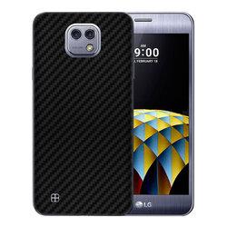 Skin LG X Cam K580 - Sticker Mobster Autoadeziv Pentru Spate - Carbon Black