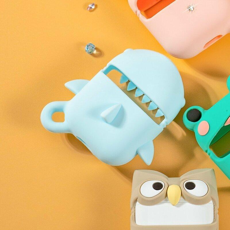 Husa Apple Airpods Kingxbar Adorable Cute Animals Cu Cristale Swarovski Din Silicon - Brown Owl
