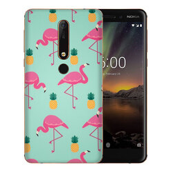 Skin Nokia 6.1 - Sticker Mobster Autoadeziv Pentru Spate - Flamingo
