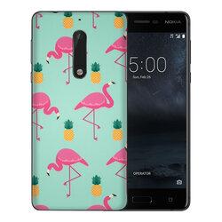 Skin Nokia 5 - Sticker Mobster Autoadeziv Pentru Spate - Flamingo