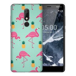 Skin Nokia 5.1 2018 - Sticker Mobster Autoadeziv Pentru Spate - Flamingo