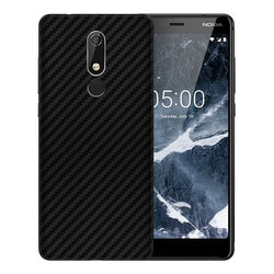 Skin Nokia 5.1 2018 - Sticker Mobster Autoadeziv Pentru Spate - Carbon Black