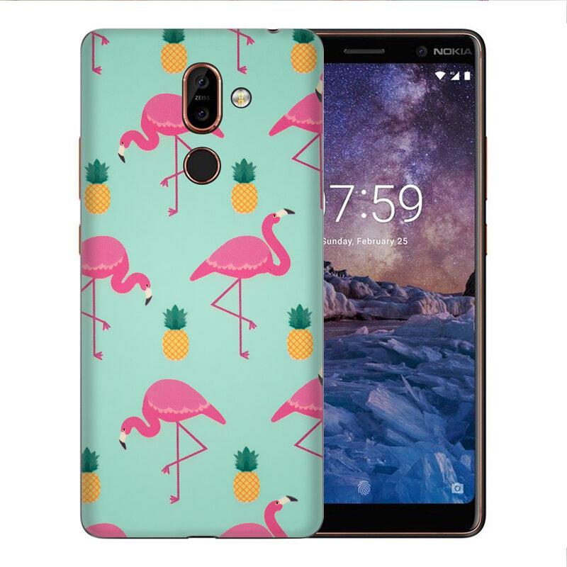 Skin Nokia 7 Plus - Sticker Mobster Autoadeziv Pentru Spate - Flamingo
