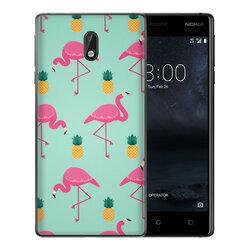 Skin Nokia 3 - Sticker Mobster Autoadeziv Pentru Spate - Flamingo