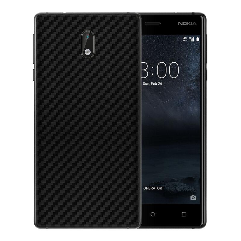 Skin Nokia 3 - Sticker Mobster Autoadeziv Pentru Spate - Carbon Black
