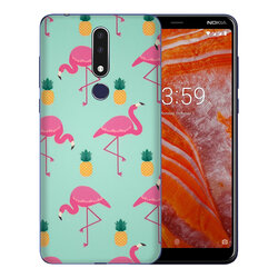 Skin Nokia 3.1 Plus - Sticker Mobster Autoadeziv Pentru Spate - Flamingo