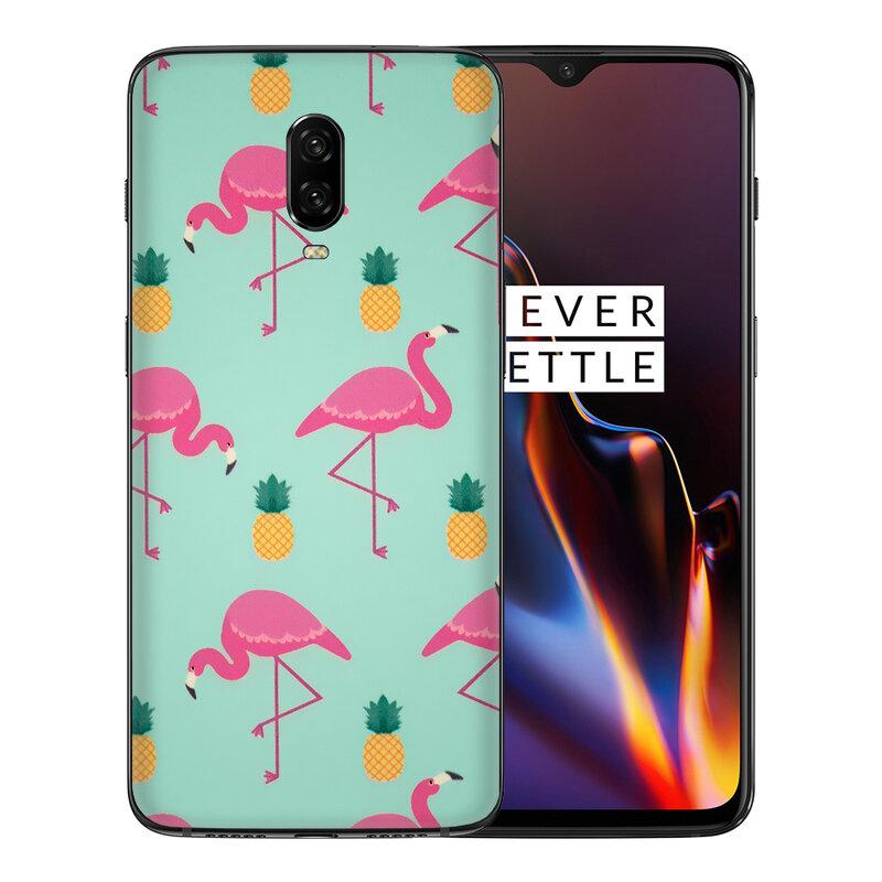 Skin OnePlus 6T - Sticker Mobster Autoadeziv Pentru Spate - Flamingo