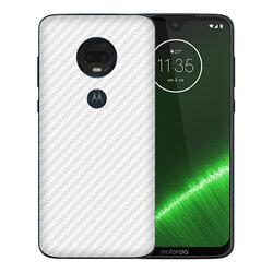 Skin Motorola Moto G7 Plus - Sticker Mobster Autoadeziv Pentru Spate - Carbon White