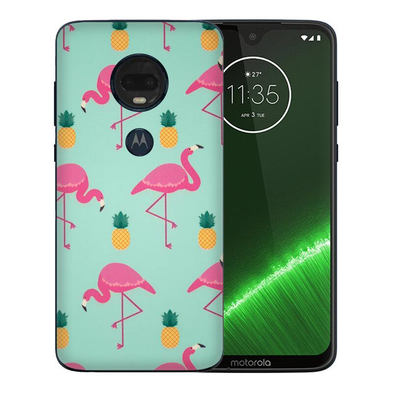Skin Motorola Moto G7 Plus - Sticker Mobster Autoadeziv Pentru Spate - Flamingo