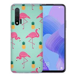 Skin Huawei Nova 6 - Sticker Mobster Autoadeziv Pentru Spate - Flamingo