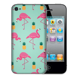 Skin iPhone 4S - Sticker Mobster Autoadeziv Pentru Spate - Flamingo