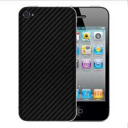 Skin iPhone 4S - Sticker Mobster Autoadeziv Pentru Spate - Carbon Black