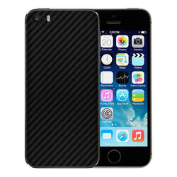 Skin iPhone 5S - Sticker Mobster Autoadeziv Pentru Spate - Carbon Black