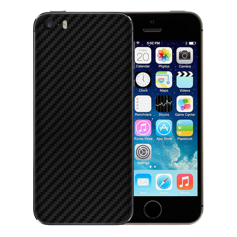 Skin iPhone 5 - Sticker Mobster Autoadeziv Pentru Spate - Carbon Black