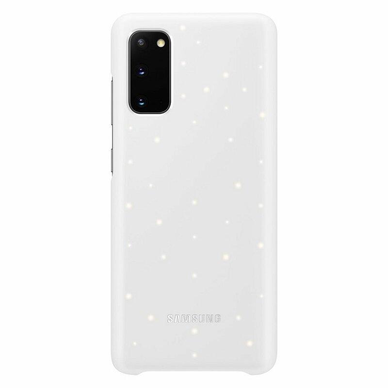 Husa Originala Samsung Galaxy S20 5G Smart Led Cover - Alb