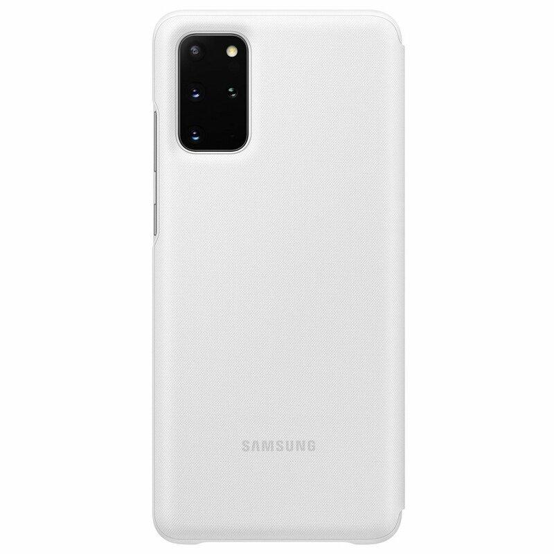 Husa Originala Samsung Galaxy S20 Plus 5G Smart Led View Cover - Alb