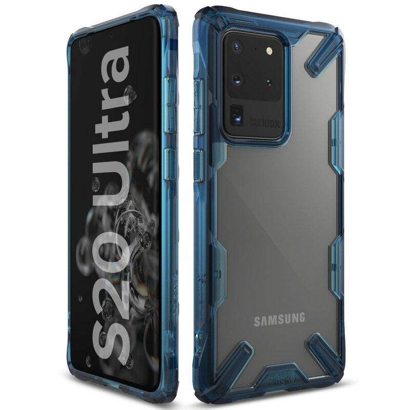 Husa Samsung Galaxy S20 Ultra 5G Ringke Fusion X - Space Blue