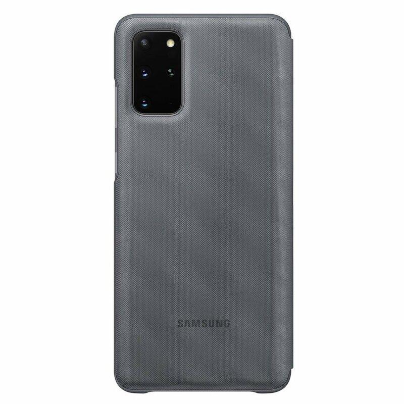 Husa Originala Samsung Galaxy S20 Plus 5G Smart Led View Cover - Gri