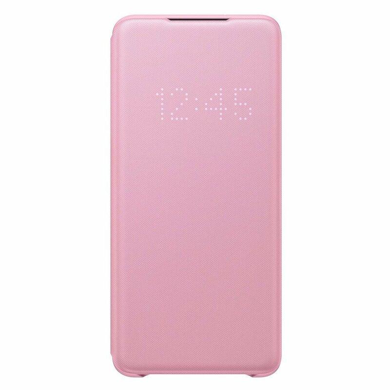 Husa Originala Samsung Galaxy S20 Plus 5G Smart Led View Cover - Roz