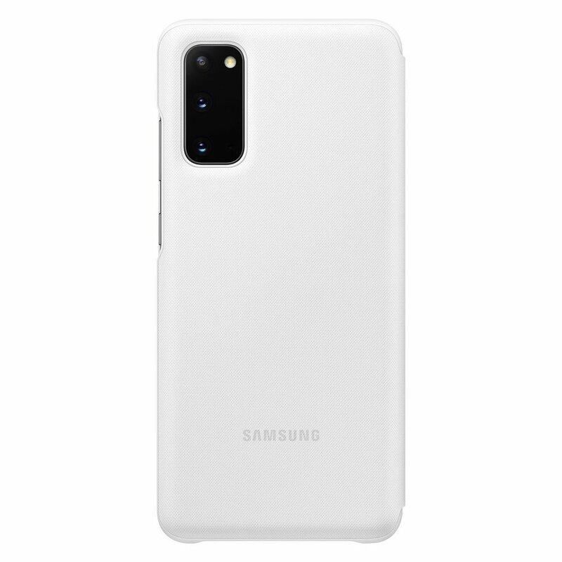 Husa Originala Samsung Galaxy S20 5G Smart Led View Cover - Alb