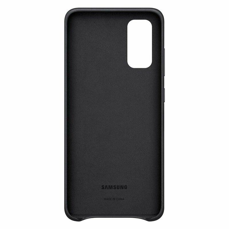 Husa originala Samsung Galaxy S20 5G Leather Cover - Negru