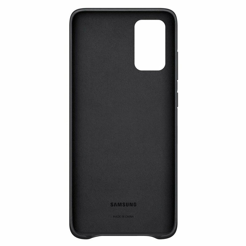 Husa originala Samsung Galaxy S20 Plus 5G Leather Cover - Negru