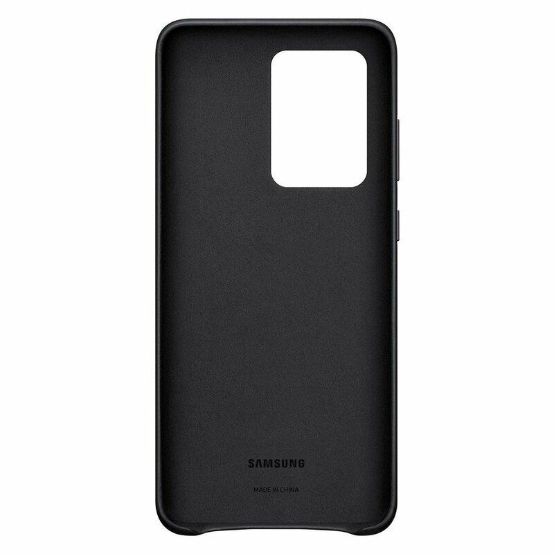 Husa originala Samsung Galaxy S20 Ultra 5G Leather Cover - Negru