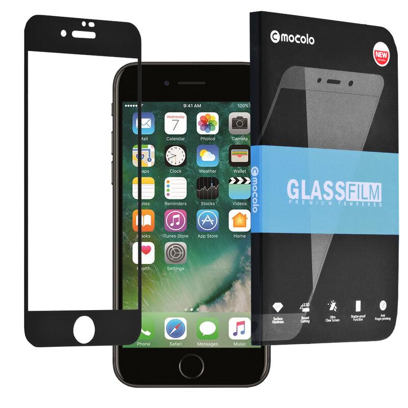 Folie Sticla iPhone 7 Mocolo 3D Case Friendly - Black