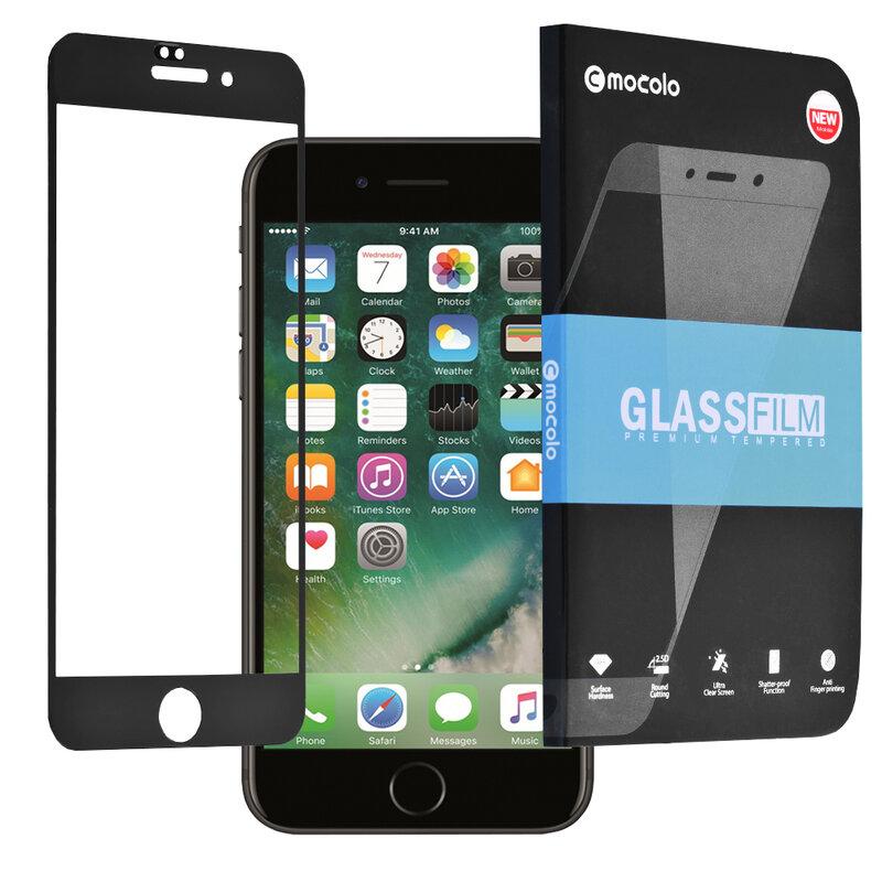 Folie Sticla iPhone 7 Plus Mocolo Full Glue 9H - Black