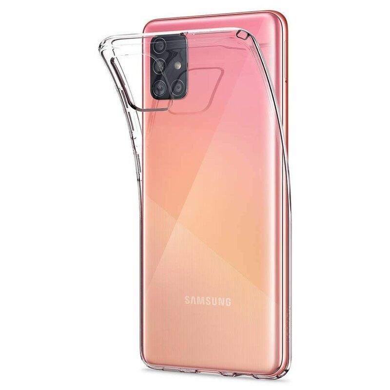 Husa Samsung Galaxy A51 Spigen Liquid Crystal - Crystal Clear