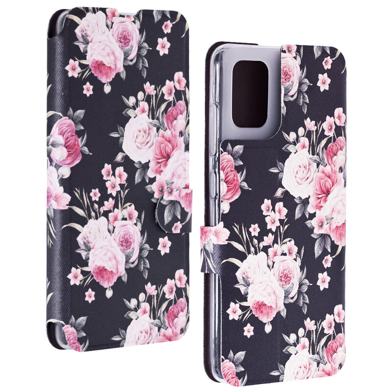 Husa Samsung Galaxy A51 Mobiwear Flip Case Multicolor - Wild Roses