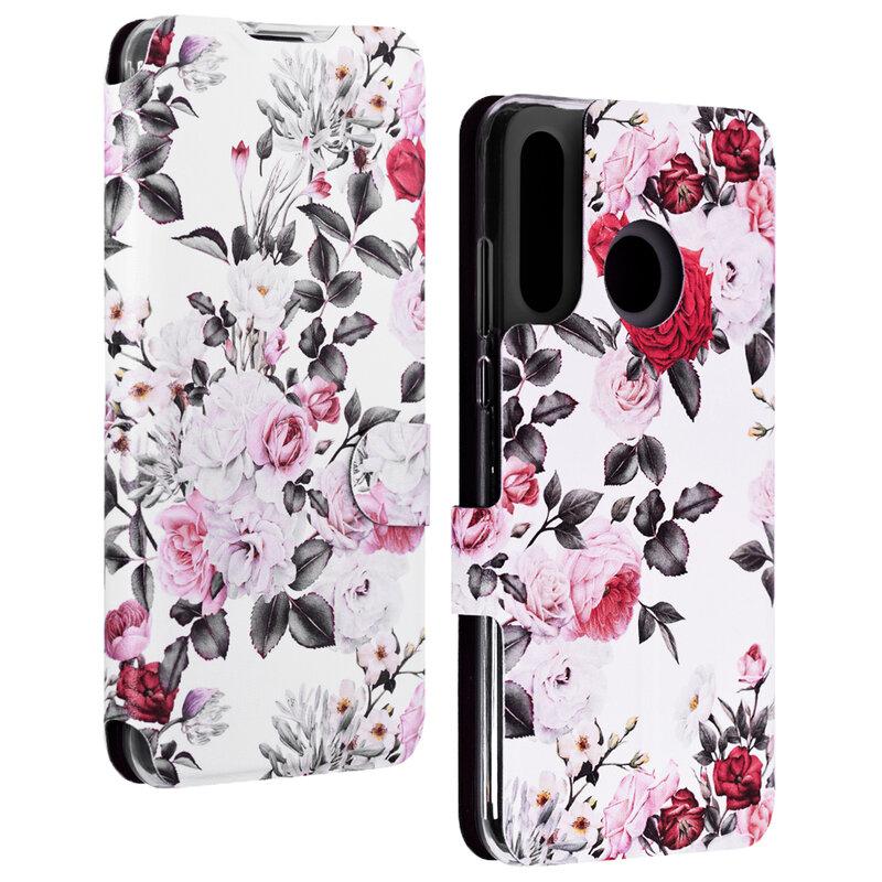 Husa Huawei P30 Lite Mobiwear Flip Case Multicolor - Floral