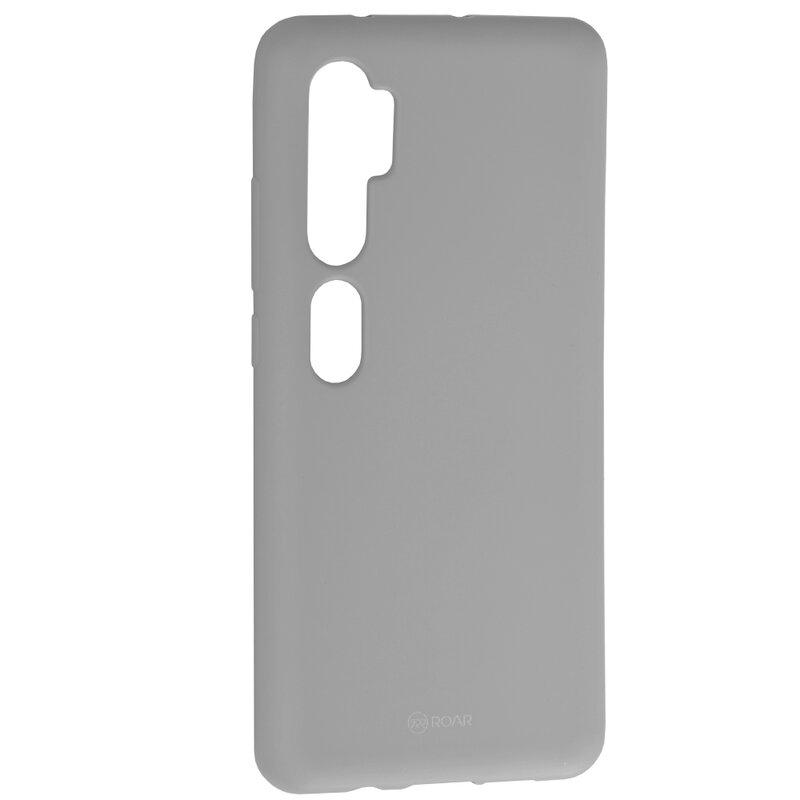 Husa Xiaomi Mi CC9 Pro Roar Colorful Jelly Case - Gri Mat