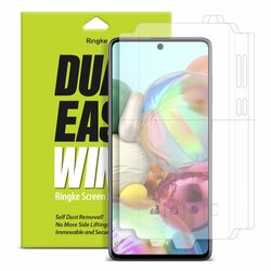 [Pachet 2x] Folie Samsung Galaxy A51 Ringke Dual Easy Wing Self Dust Removal - Clear