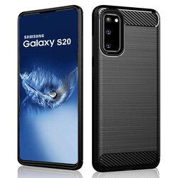 Husa Samsung Galaxy S20 TPU Carbon - Negru