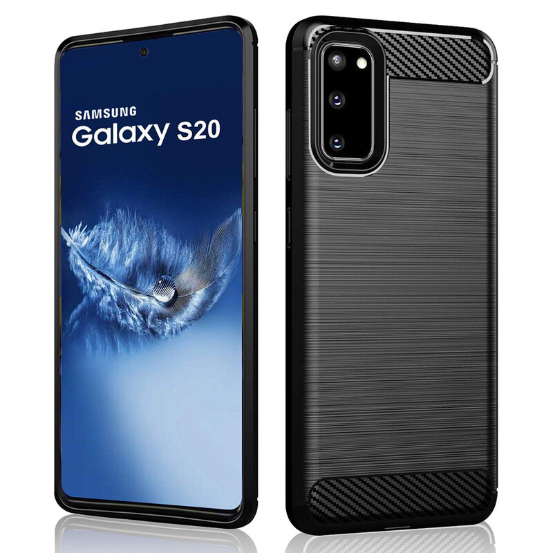 Husa Samsung Galaxy S20 5G TPU Carbon - Negru