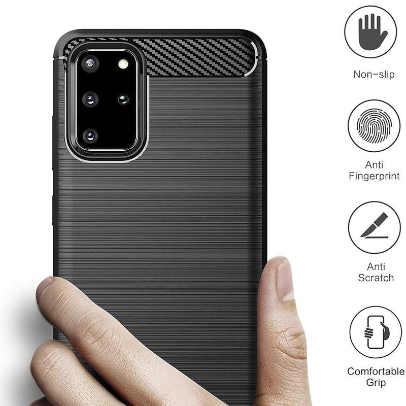 Husa Samsung Galaxy S20 Plus TPU Carbon - Negru