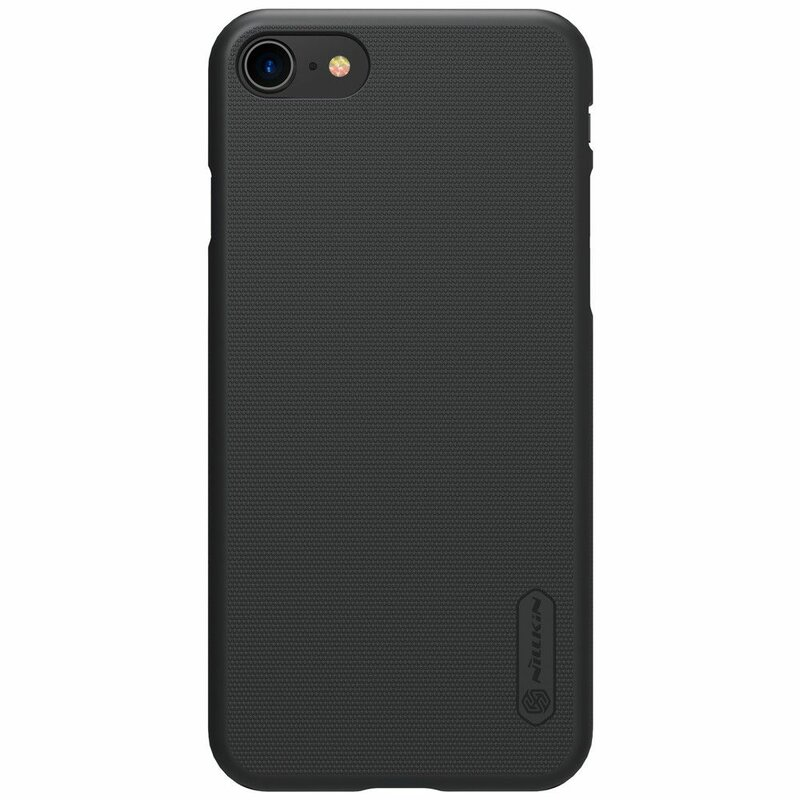 Husa Iphone 7 Nillkin Frosted Fara Decupaj Sigla - Black