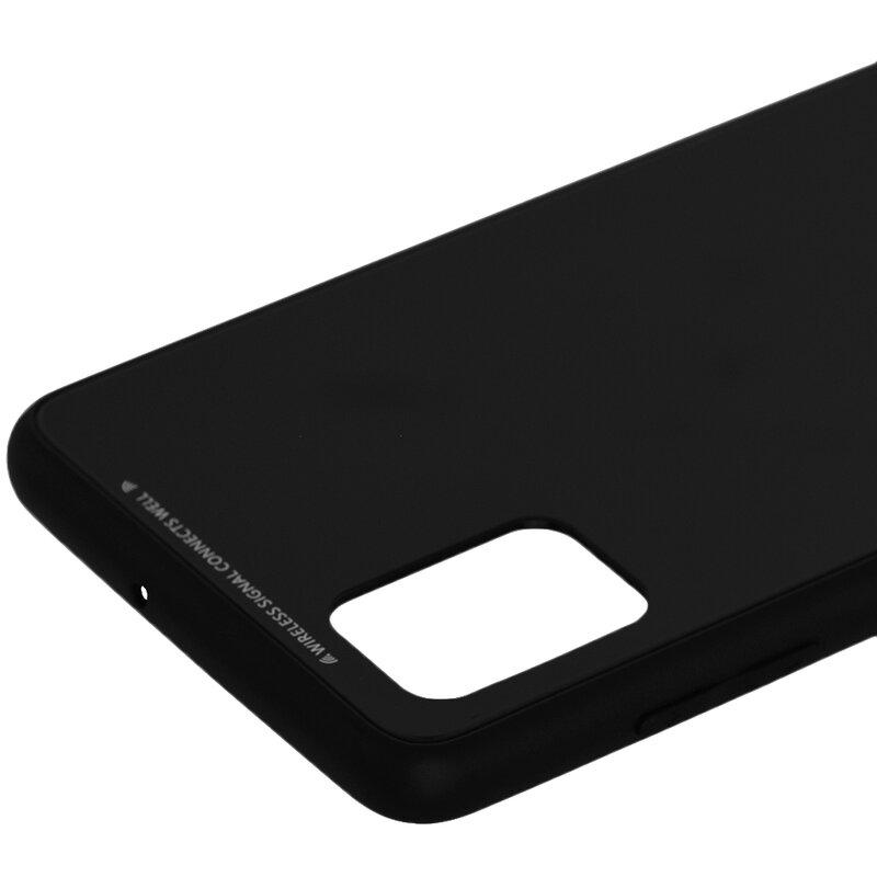 Husa Samsung Galaxy A51 Glass Series - Negru