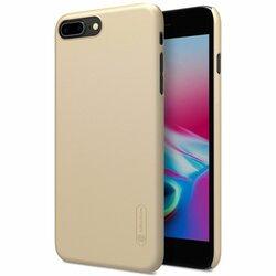 Husa iPhone 8 Plus Nillkin Super Frosted Shield Fara Decupaj Sigla - Gold