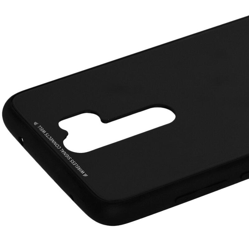 Husa Xiaomi Redmi Note 8 Pro Glass Series - Negru