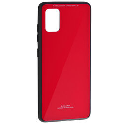 Husa Samsung Galaxy A51 Glass Series - Rosu